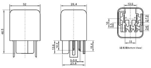 Çin Röle Kablo Bağlantı Şeması 5 Pin Üreticiler ve