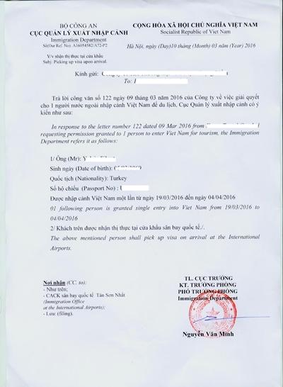 C1 belgesi örnektir