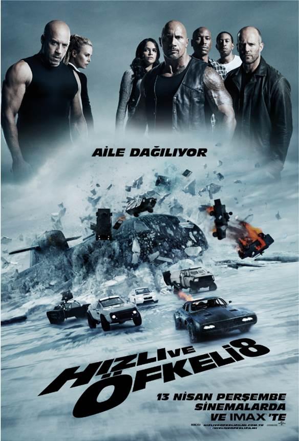 549386 Hızlı ve Öfkeli 8 Filmi Orjinal Türkçe Posteri ve Fragmanı