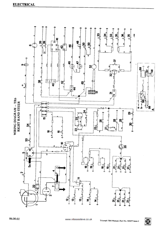 wiring diagrams triumph tr3a