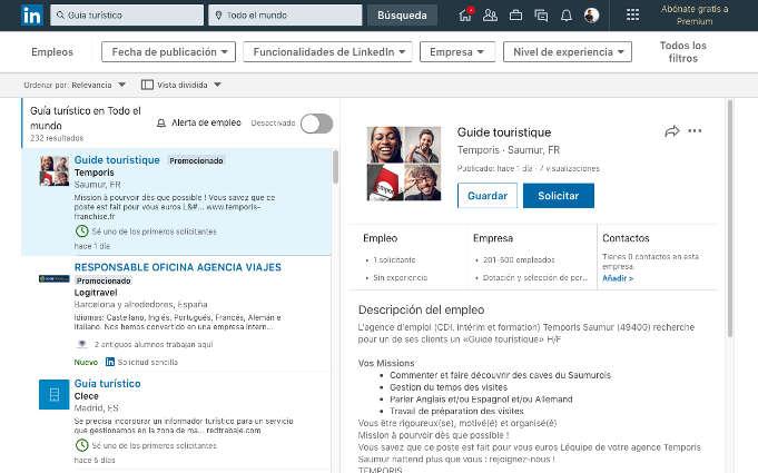 buscar empleo con LinkedIn