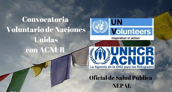Convocatoria de Voluntario Internacional con Naciones Unidas en Nepal: Oficial en Salud Pública