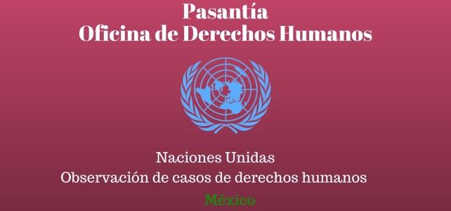 Pasantía con Naciones Unidas México en observación de casos de derechos humanos
