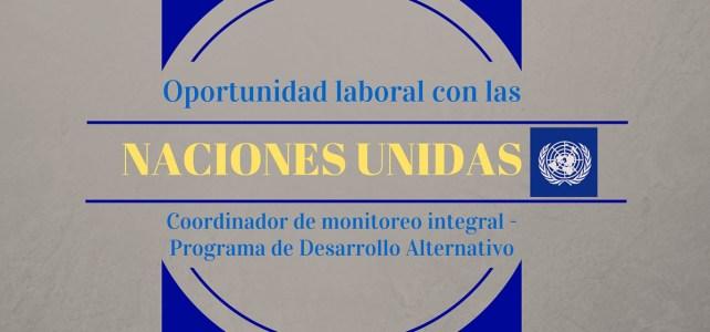 Oportunidad laboral con la Oficina de las Naciones Unidas contra la Droga y el Delito (UNODC)