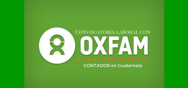 OXFAM abre convocatoria laboral para contadores