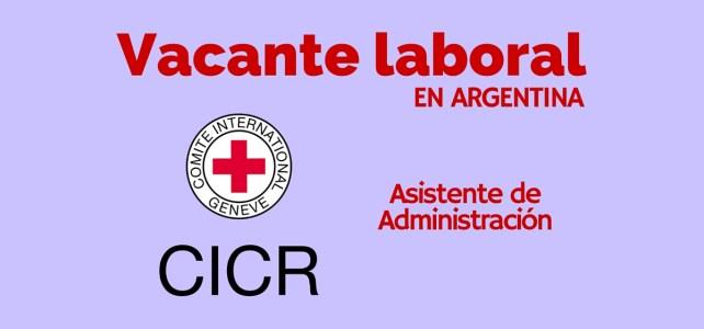 Vacante laboral con el Comité Internacional de la Cruz Roja en Argentina