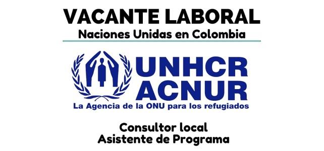 Oportunidad laboral con el ACNUR en Colombia