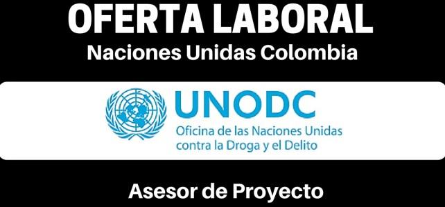 Vacante laboral en la Oficina de las Naciones Unidas contra la Droga y el Delito (UNODC) en Colombia