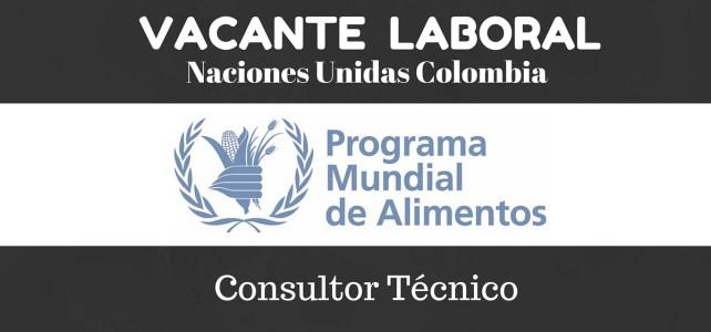 El Programa Mundial de Alimentos – PMA en Colombia abre vacante laboral