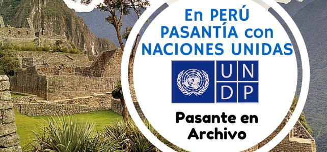 Pasantía en Perú con Naciones Unidas
