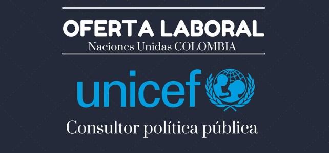 Unicef abre convocatoria laboral en Colombia