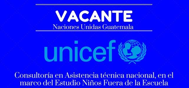 Unicef necesita consultoría en Asistencia técnica nacional en República Dominicana