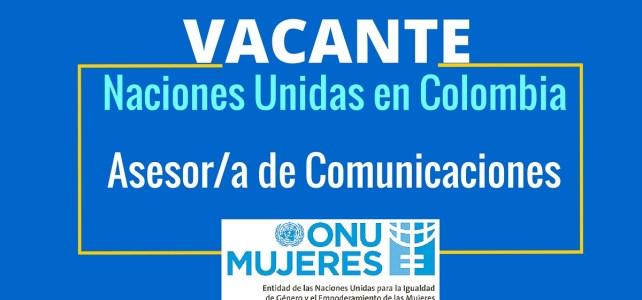 Vacante laboral en ONU Mujeres en Colombia