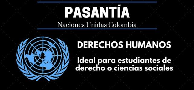 Haz tu pasantía con la oficina de derechos humanos – ONU en Colombia