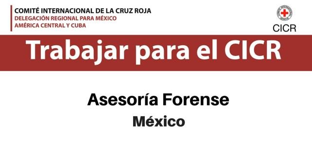 CICR abre Vacante en Asesoría Forense – México