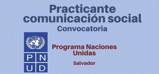 Convocatoria practicante de comunicación social