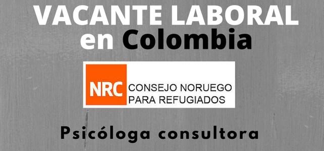 El Consejo Noruego para Refugiados abre vacante laboral para psicóloga en Colombia