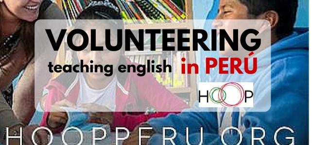 Volunteer teaching English in Perú with HOOP