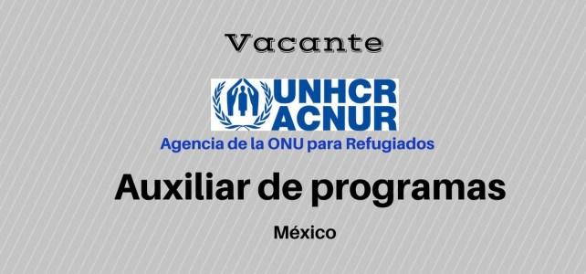 Vacante auxiliar de programa con ACNUR/UNHCR