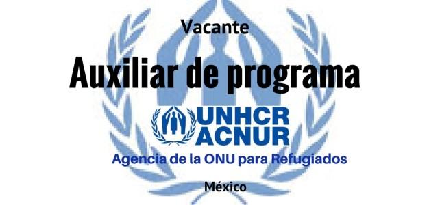 Vacante auxiliar de programa con ACNUR /UNHCR