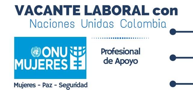 ONU Mujeres abre convocatoria laboral en Colombia