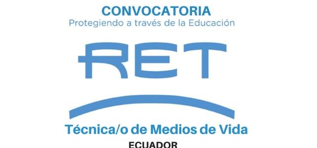 Convocatoria de RET international: Vacante técnica/o de medios de vida