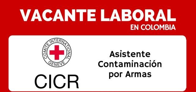 Trabaja con el Comité Internacional de la Cruz Roja en Colombia