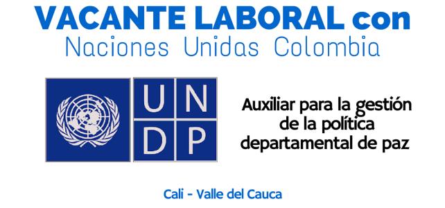 Oferta laboral con el PNUD en Colombia