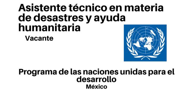 Asistente técnico en materia de desastres y ayuda humanitaria