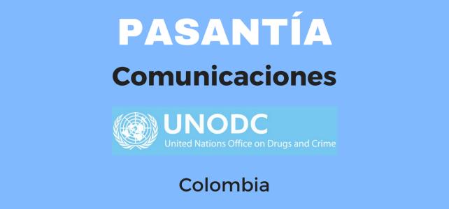 Pasantía en Comunicaciones UNODC Colombia