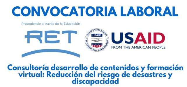 Convocatoria laboral con RET y USAID en Panamá