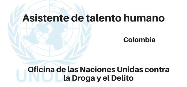 Asistente de talento humano – Naciones Unidas