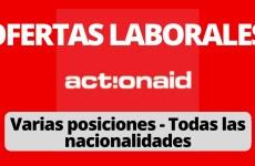 Convocatoria laboral con Actionaid