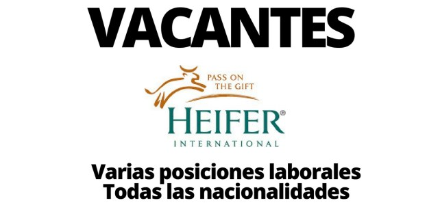 Vacantes laborales con Heifer International