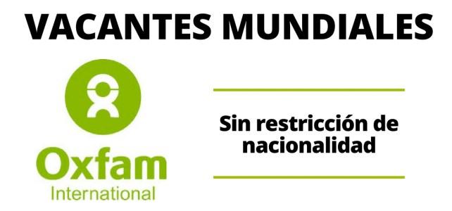 Vacantes a nivel mundial con Oxfam