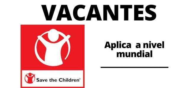 Convocatoria laboral abierta con Save the Children