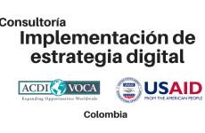 Consultoría- diseño e implementación de estrategia digital con USAID