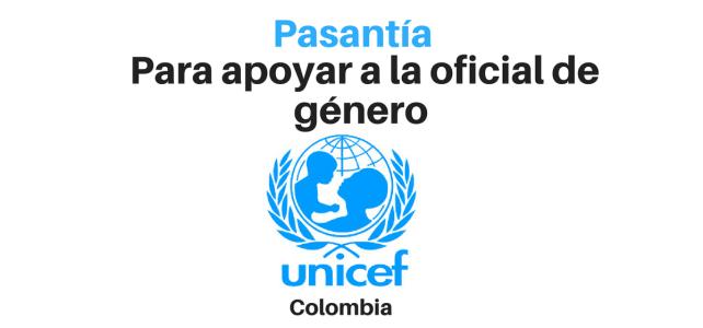 Pasantía con UNICEF en temas de género