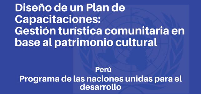 Diseño de un Plan de Capacitaciones para la gestión turística comunitaria