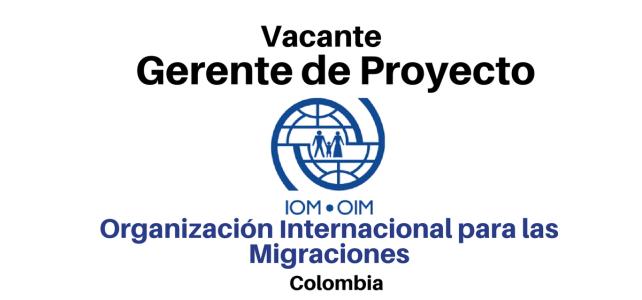Vacante Gerente de proyecto OIM