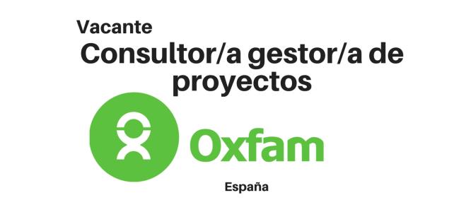Consultoría en gestión de proyectos con OXFAM