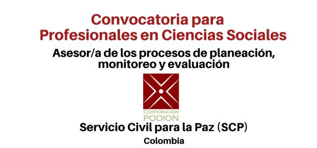 Asesor/a de los procesos de planeación, monitoreo y evaluación