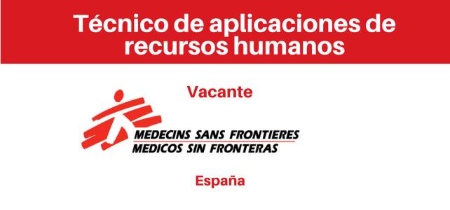 Vacante – Técnico de aplicaciones de recursos humanos (MSF)