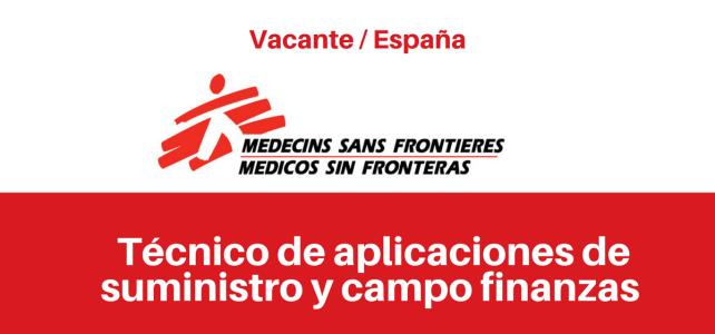 Vacante Técnico de aplicaciones de suministro y campo Finanzas MSF