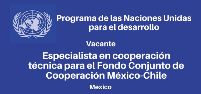 Especialista en Cooperación Técnica de Cooperación México-Chile con PNUD