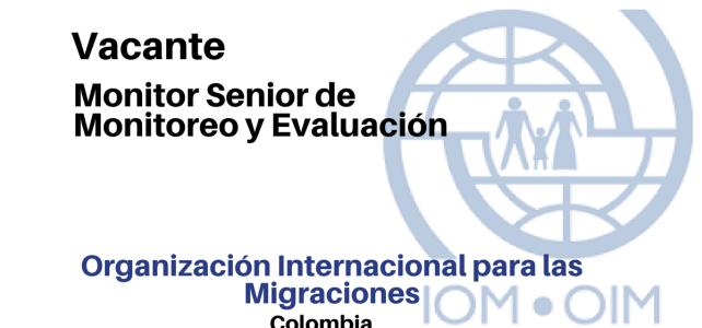Vacante Monitor Senior de Monitoreo y Evaluación con la OIM