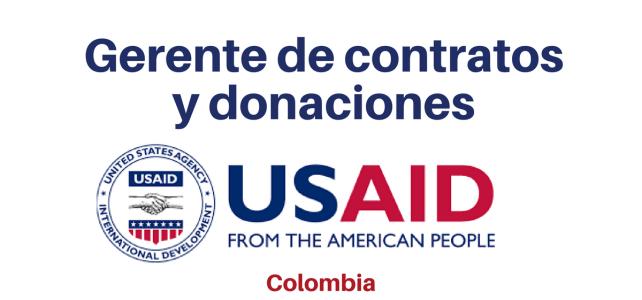 Convocatoria Gerente de Contratos y Donaciones (USAID)