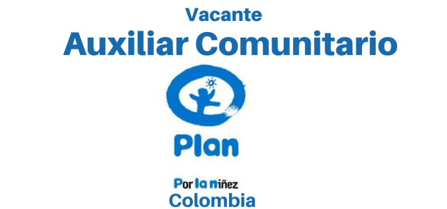 Vacante con PLAN – Auxiliar Comunitario