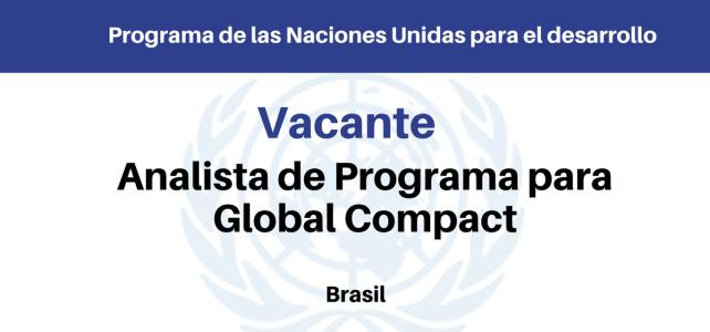 Convocatoria Analista del Programa Pacto Global Naciones Unidas