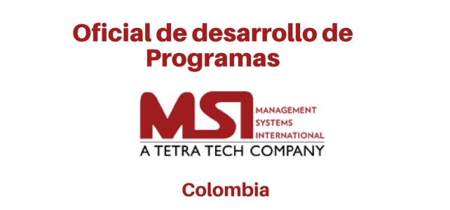 Vacante Oficial de Desarrollo de Programas 19 de enero (MSI)